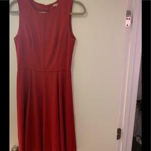 Red midi dress